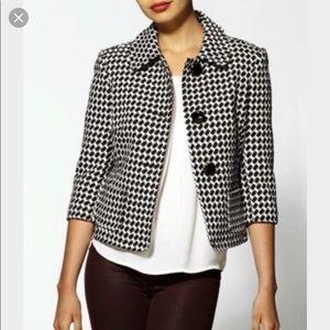 Trina Turk Kay Houndstooth Black & White Blazer 4